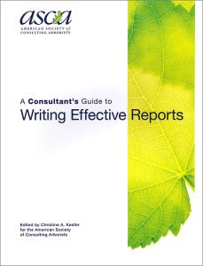 Consultant guide to writing effective reports
