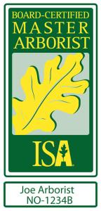 Board Certified Master Arborist vehicle decal